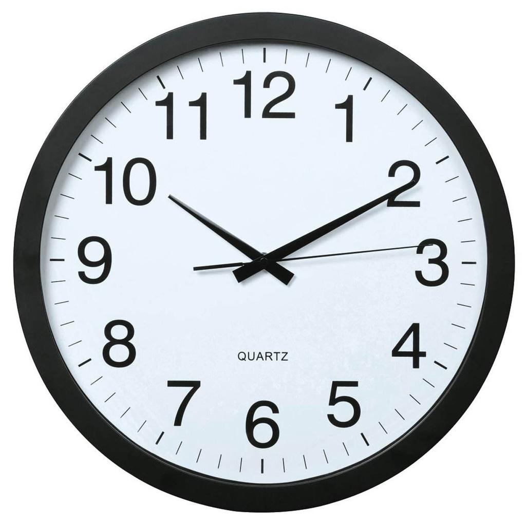 Nástěnné hodiny Hama Jumbo tiché / černé / průměr 40 cm