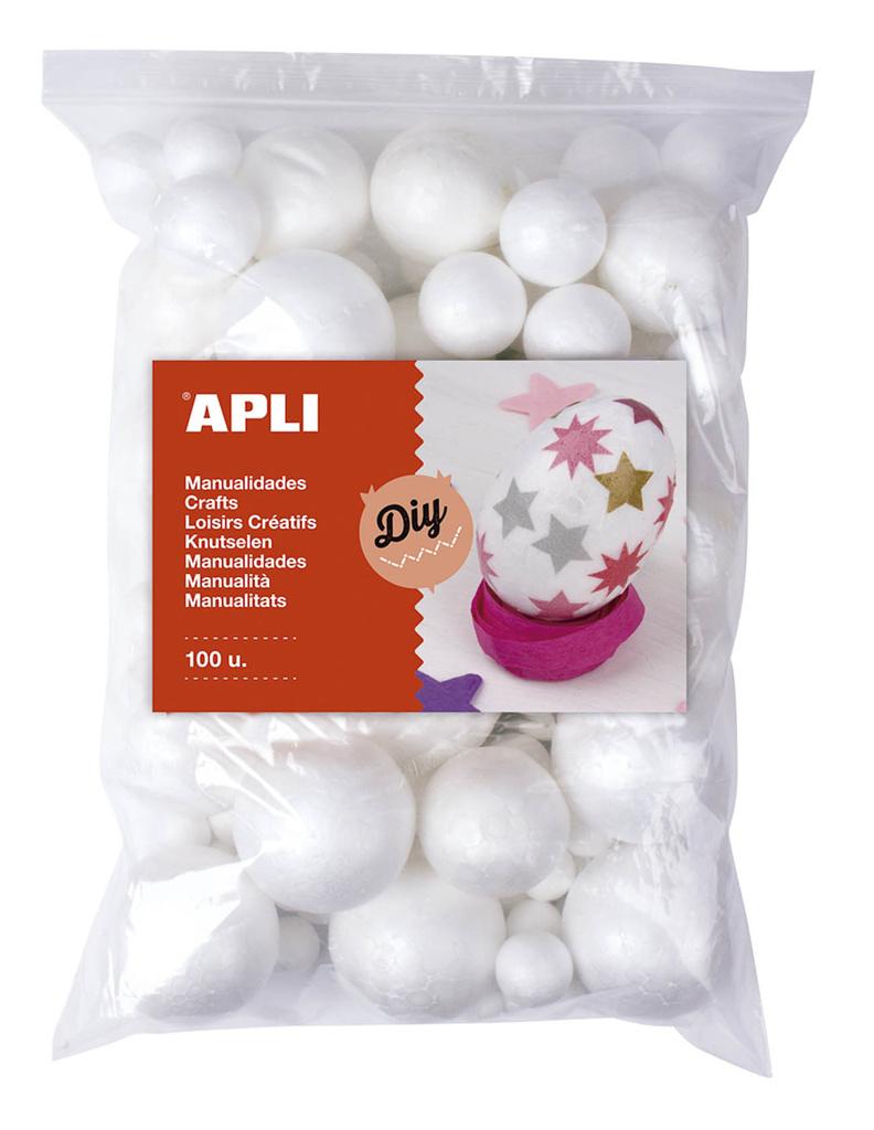 Polystyrénové koule APLI Jumbo / mix velikostí / 100 ks