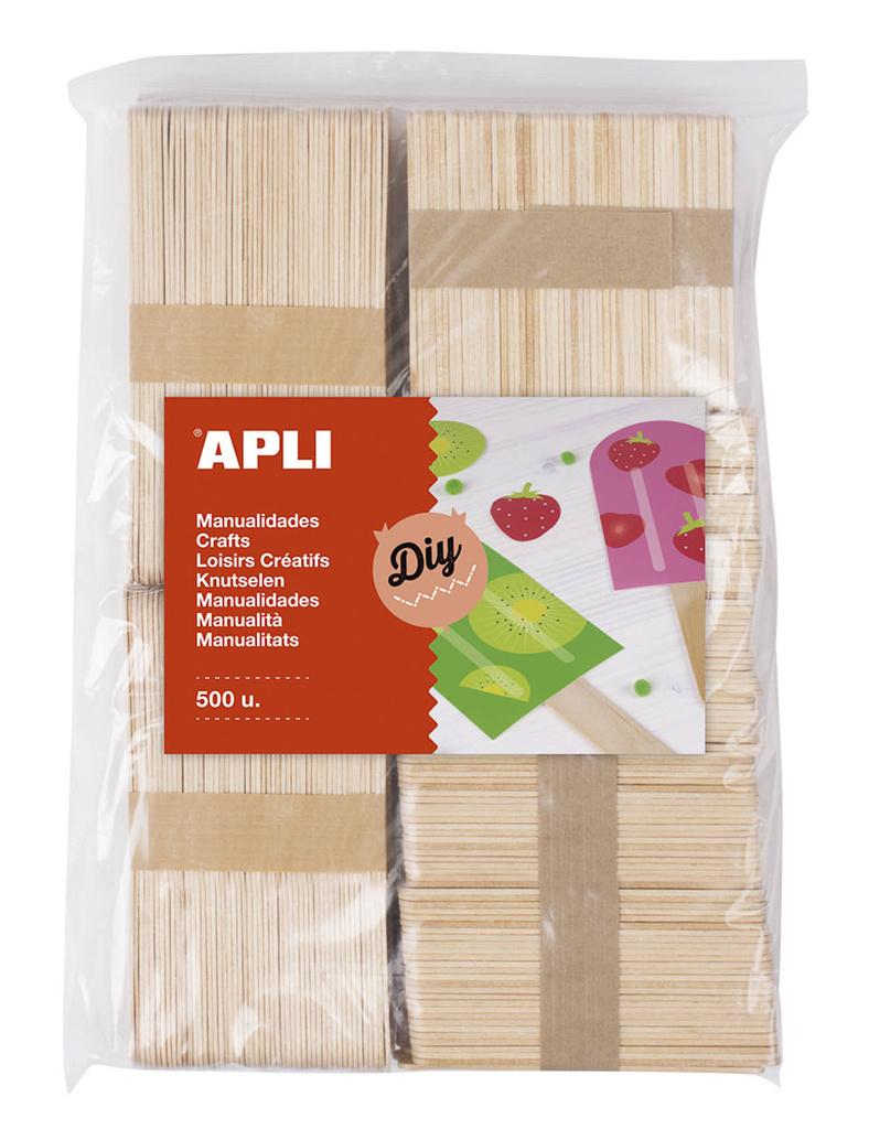 Nanuková dřívka APLI přírodní / Jumbo / mix barev / 800 ks