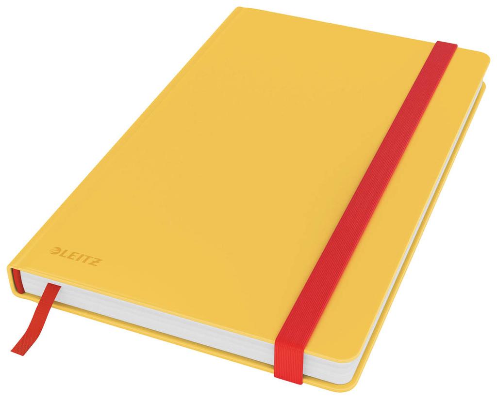 Kniha záznamní Leitz COSY - A5 / linka / teplá žlutá