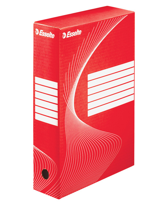 Box archivní A4 Esselte - hřbet 8 cm / červená