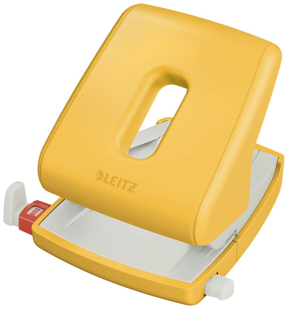 Kancelářský děrovač Leitz COSY - teplá žlutá