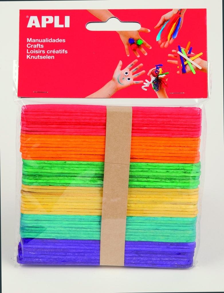 Nanuková dřívka APLI mix barev / 50 ks