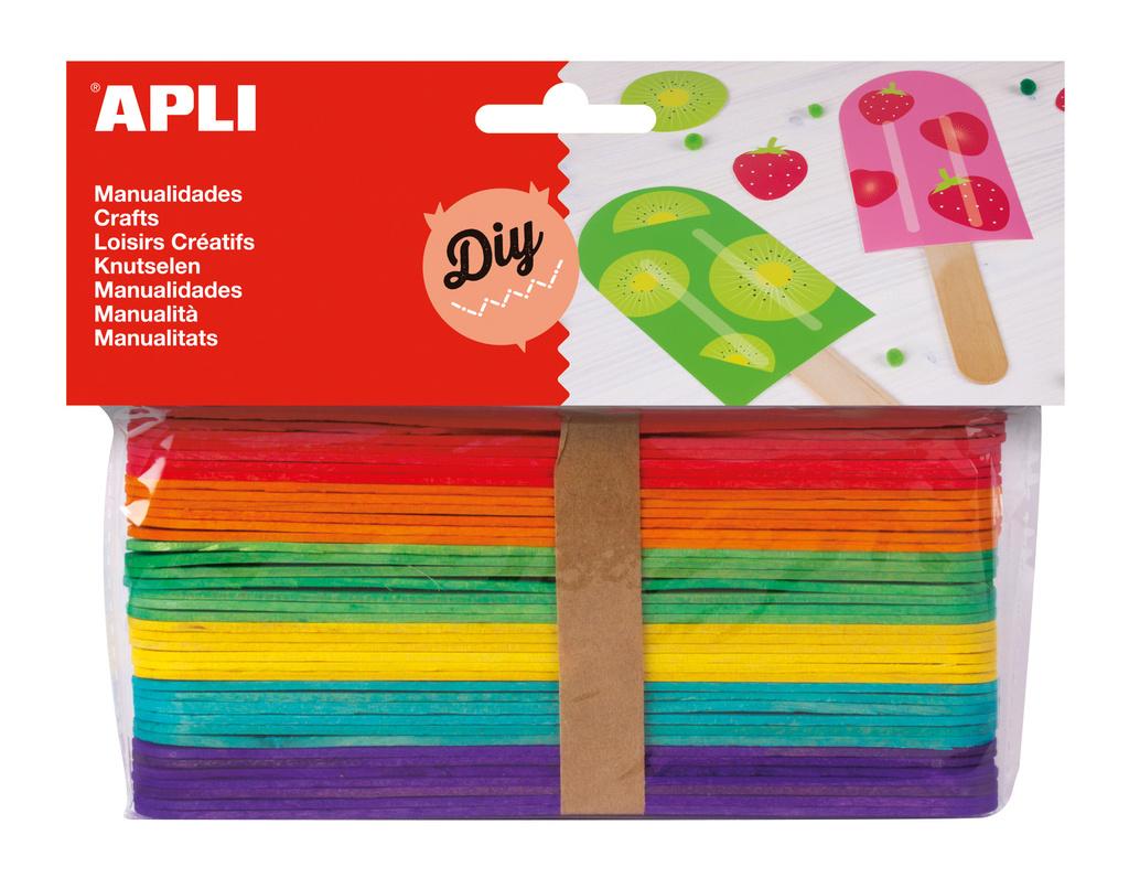 Nanuková dřívka APLI mix barev / 40 ks
