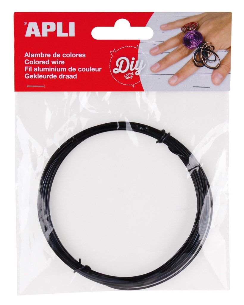 Modelovací drát APLI černý / šířka 1,5mm / délka 5m