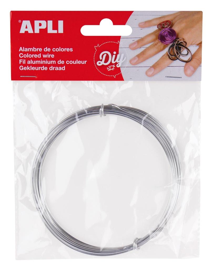 Modelovací drát APLI stříbrný / šířka 1,5mm / délka 5m