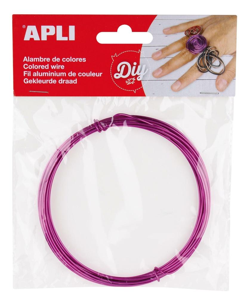 Modelovací drát APLI fialový / šířka 1,5mm / délka 5m