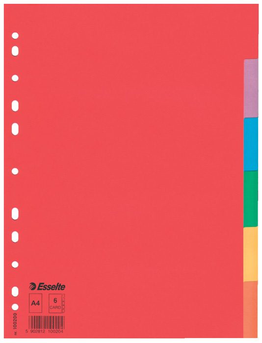 Rozdružovač A4 kartonový Esselte - 6 listů