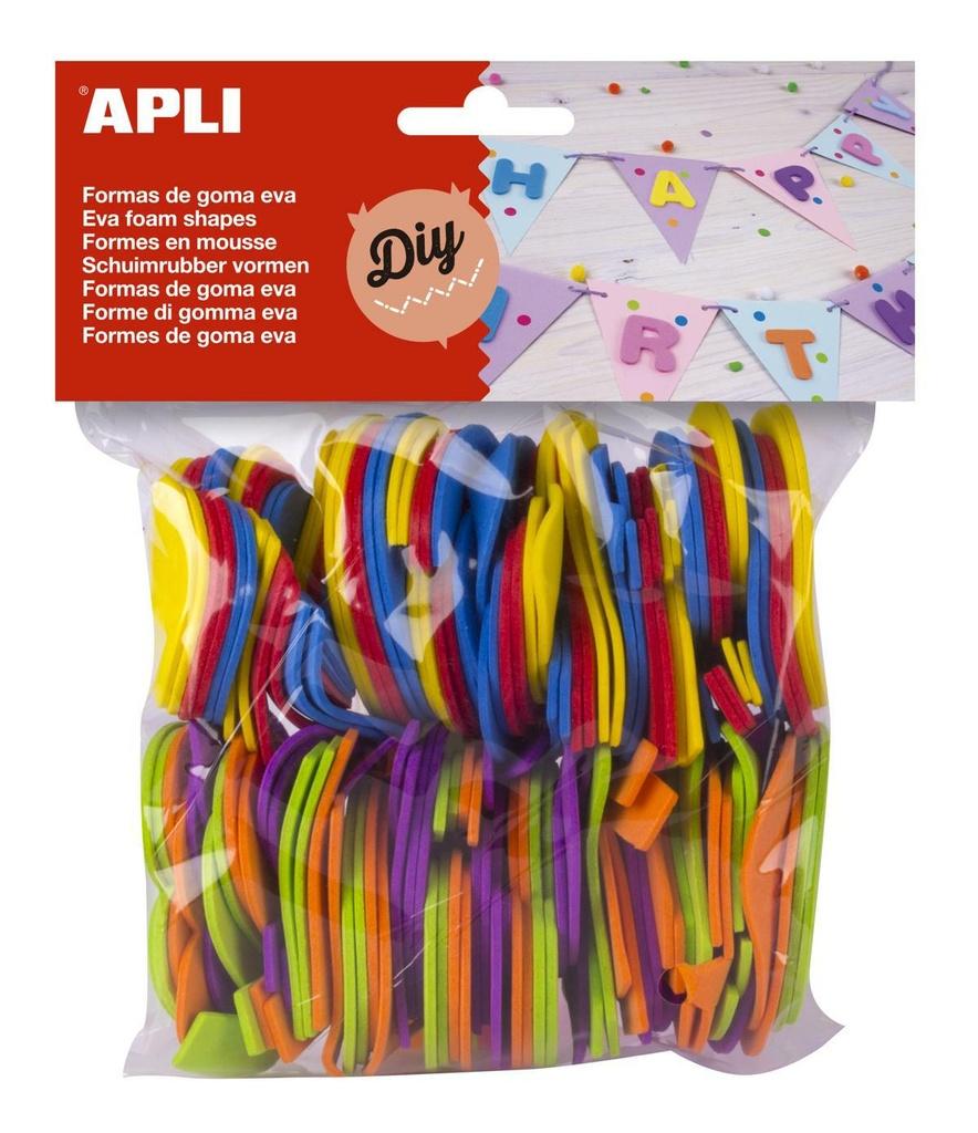 Pěnovka APLI - číslice / mix barev / 120 ks