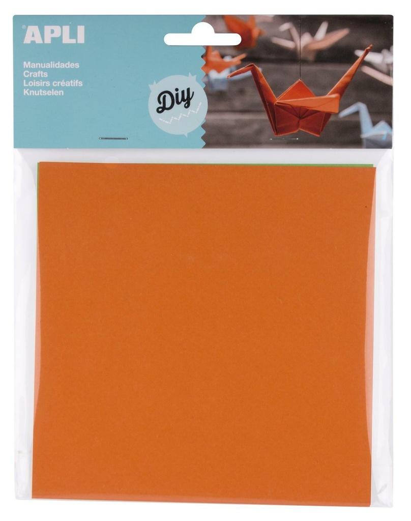 Origami papír APLI / 15 x 15 / mix 5 barev / 50 ks