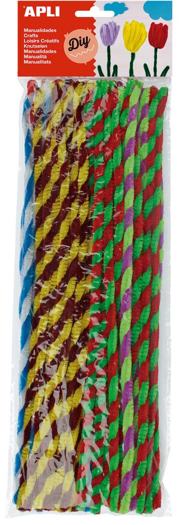 Modelovací drátky APLI Twist / 30 cm / mix barev