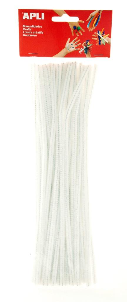 Modelovací drátky APLI bílé / 30 cm / 50 ks