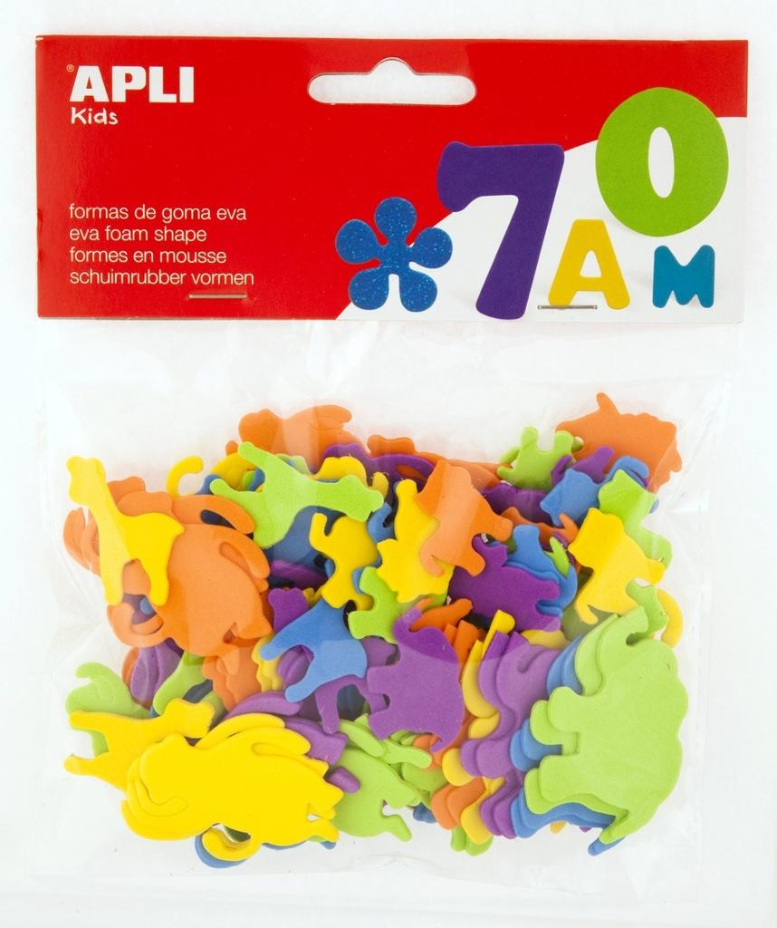 Pěnovka APLI zvířátka / mix velikostí a barev / 100 ks