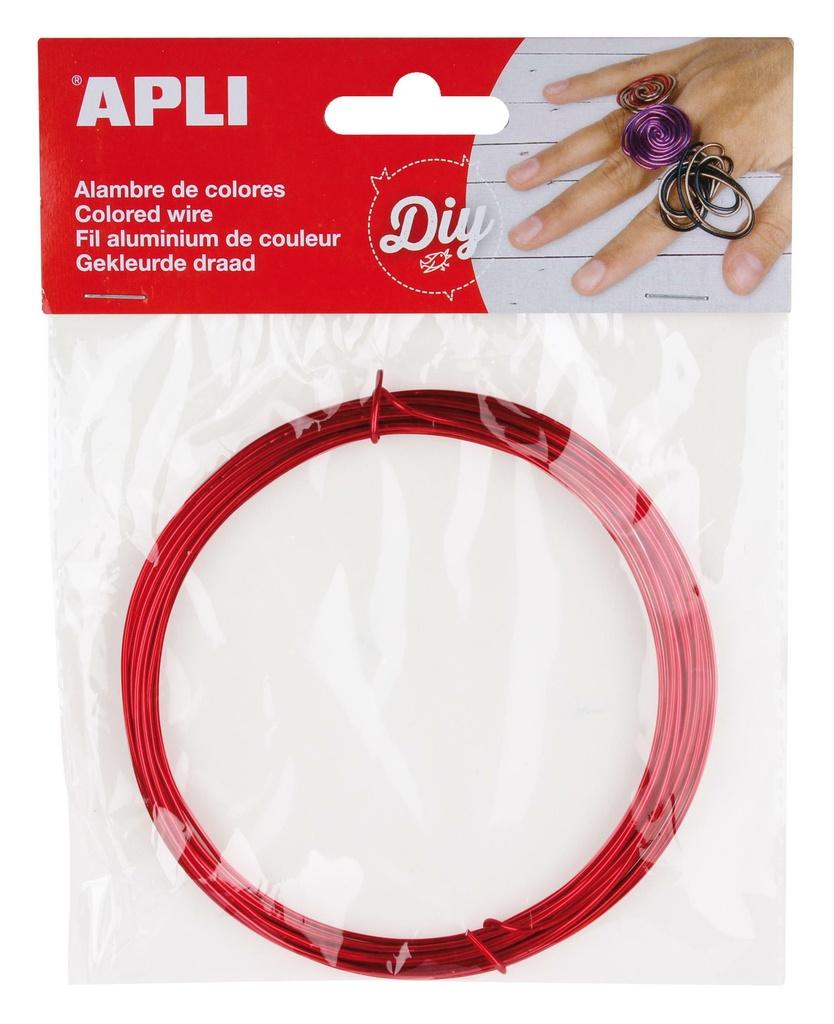 Modelovací drát APLI červený / šířka 1,5mm / délka 5m