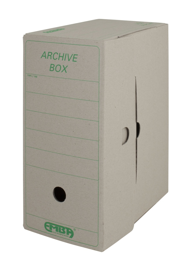 Archivní box Emba - 33 cm x 26 cm x 15 cm / starý motiv