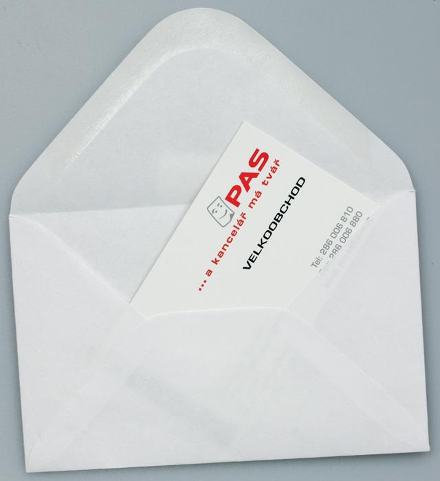 Obálky navštívenkové - 1500 ks