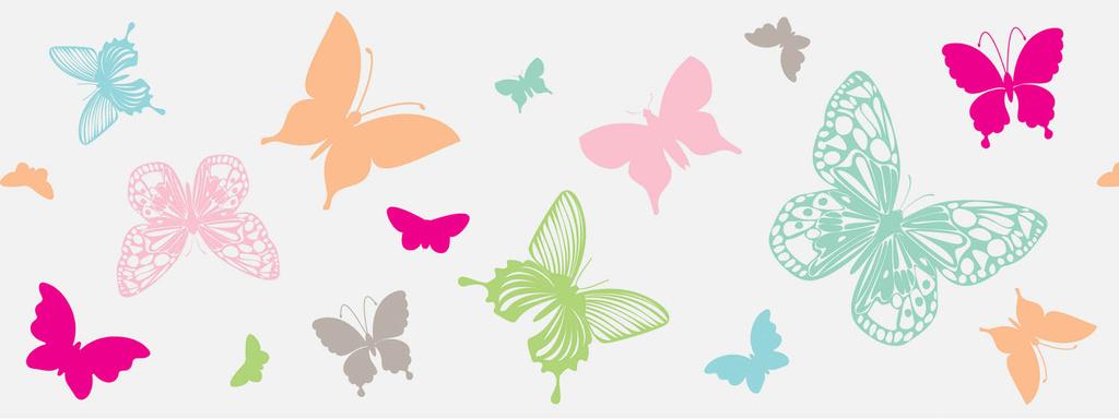 Okenní fólie páska - 7,6cm x 2m / motýlci