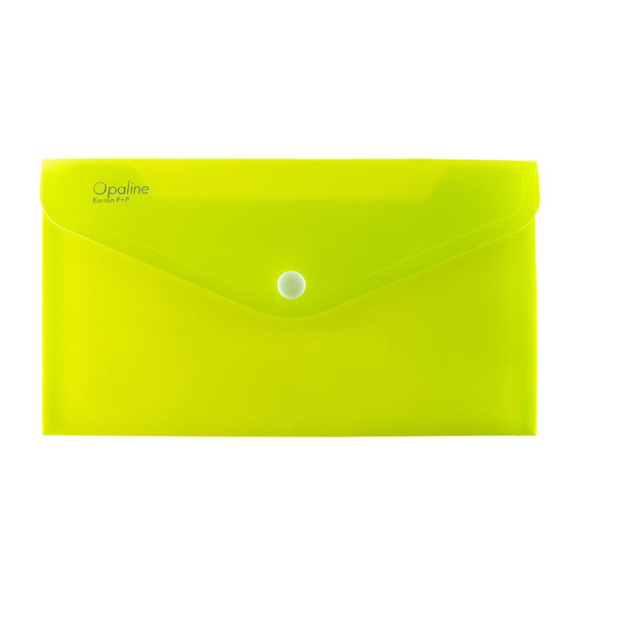 Spisové desky s drukem - DL / zelená limetková