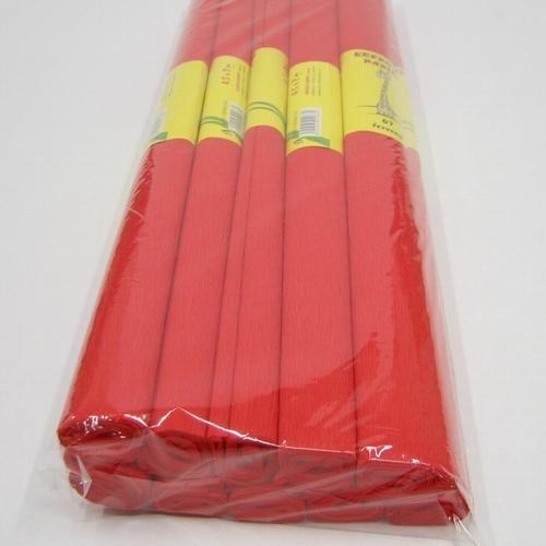 Krepový papír - role / 50 x 200 cm / červená