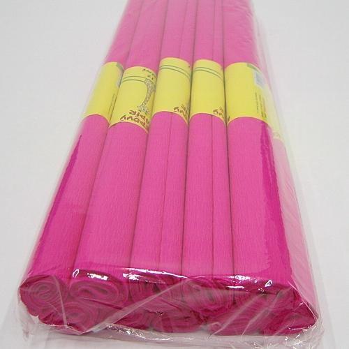 Krepový papír - role / 50 x 200 cm / růžová