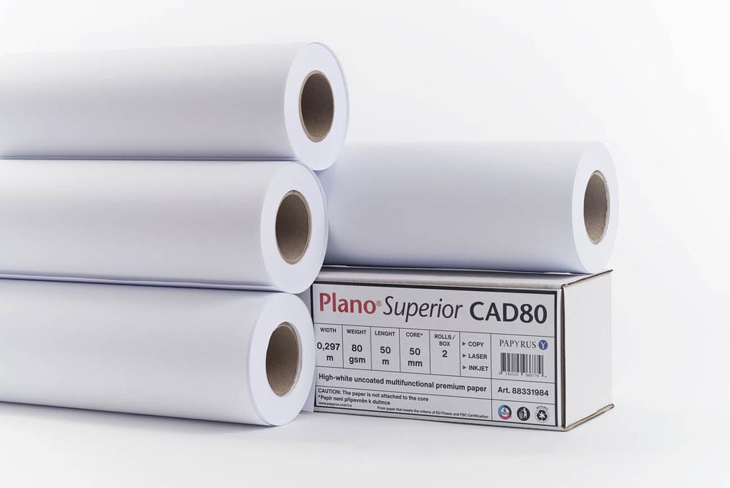 Plotterové role Plano Superior - 297 mm x 50 m x 50 mm / 80 g