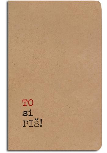 Notes linkovaný - A5 - kraft - to si piš