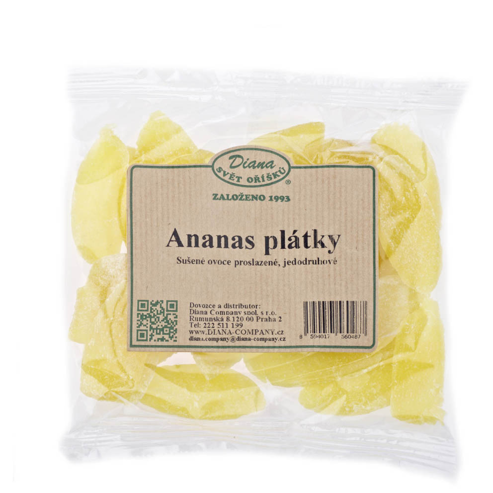 Sušené ovoce a oříšky - ananas plátky