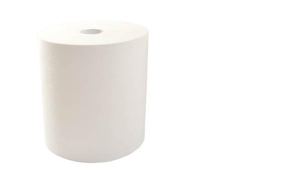 Ručníky v rolích Merida AUTOMATIC Maxi - bílé / jednovrstvá 100% celulóza / 270 m