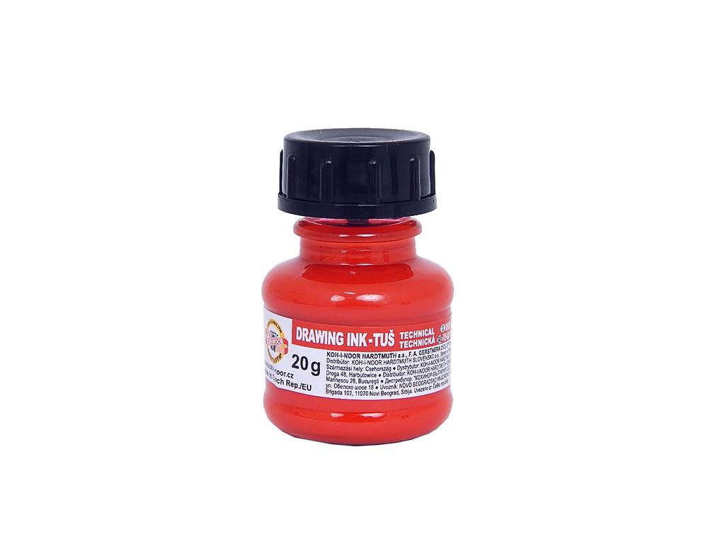Tuše barevné  -  červená 20 g