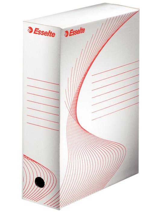 Box archivní A4 Esselte - hřbet 8 cm / bílá