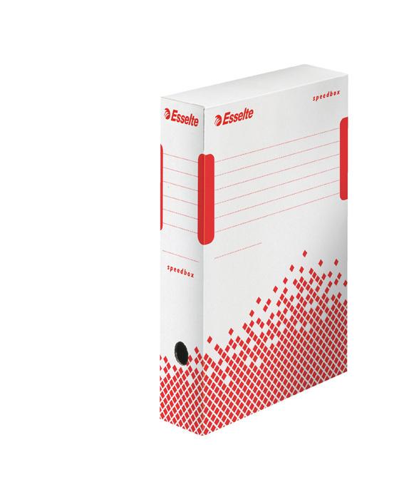 Archivní box Esselte Speedbox - hřbet 8 cm / bílá