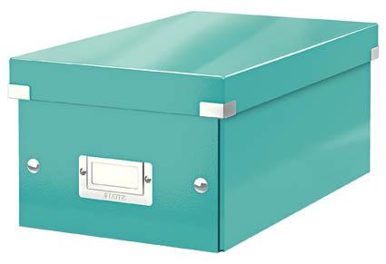 Krabice Leitz Click & Store - na DVD / tyrkysová