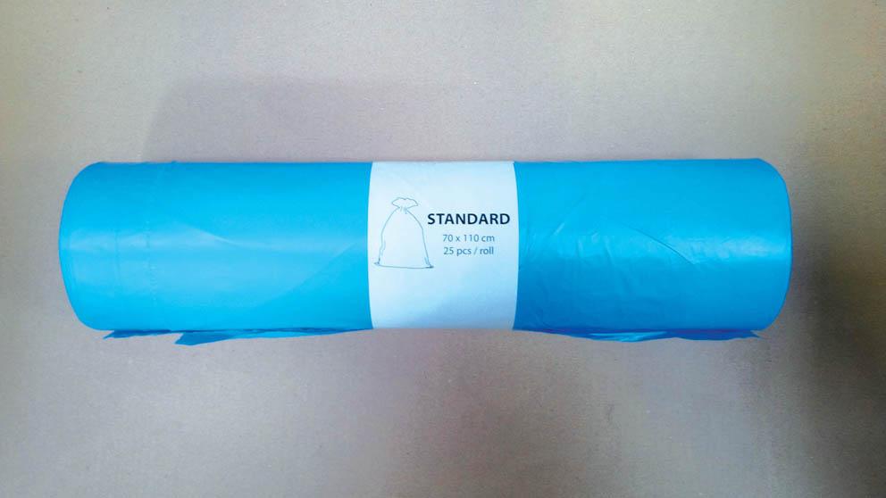 Pytle na odpad Alufix 70x110 cm 120 l 23 my 25 ks modré