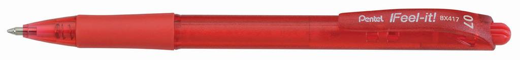 Kuličkové pero Pentel BX417 - červená