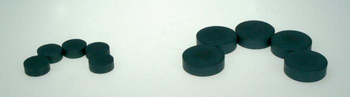 Magnety černé Durox - průměr 20 mm
