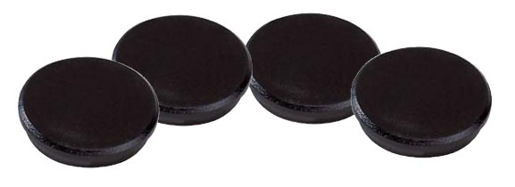 Magnety černé Dahle - průměr 24 mm / 10 ks