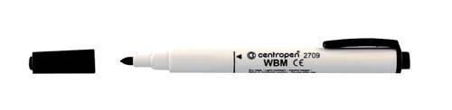 Značkovač Centropen 2709 stíratelný - černá