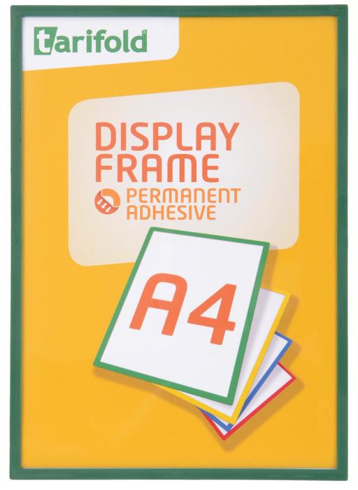 Kapsy samolepicí Display Frame - A4 / zelená