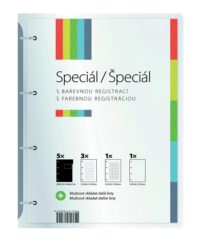 Studentský speciál - A4 / blok 5 x 20 linkovaných listů