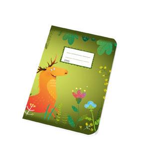 Papírny Brno sešit školní JUNIOR 10 listů A5 5110 čtvereček 10 x 10 mm