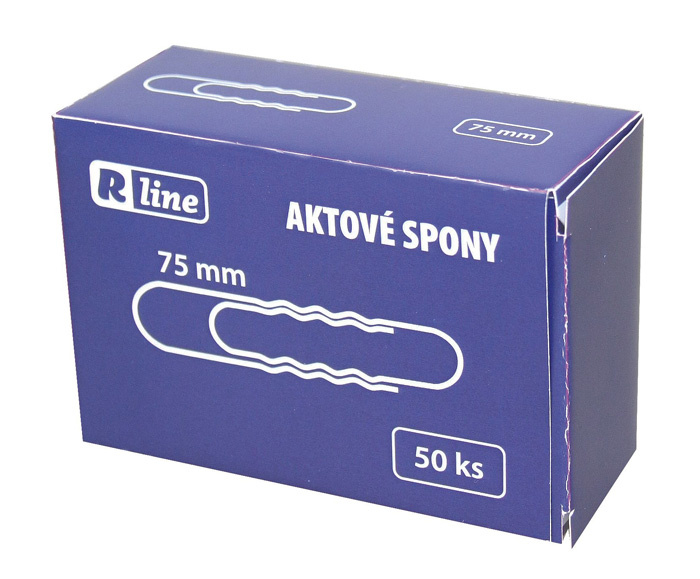 Aktové spony Economy - 75 mm / 50 ks