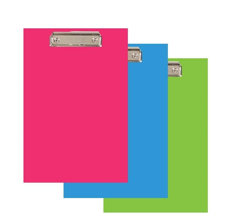 Podložka A4 s klipem PVC Office - zelená pastelová