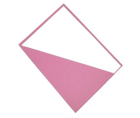 Desky se šikmým rohem - růžová