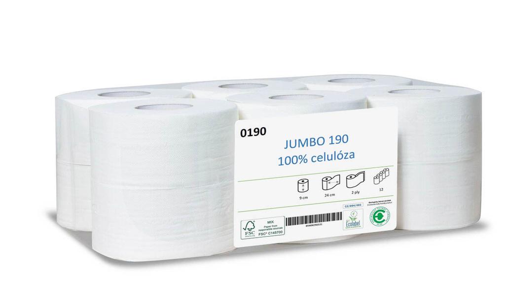 Toaletní papír Jumbo 100 % celulóza - průměr 280 mm