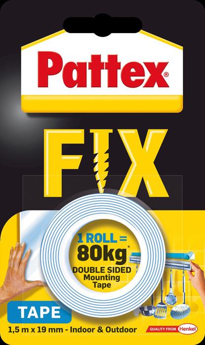 Montážní páska oboustranná Pattex Super Fix - 80 kg / 19 mm x 1,5 m