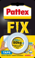 Montážní páska oboustranná Pattex Super Fix - 80 kg / 19 mm x 1,5 m