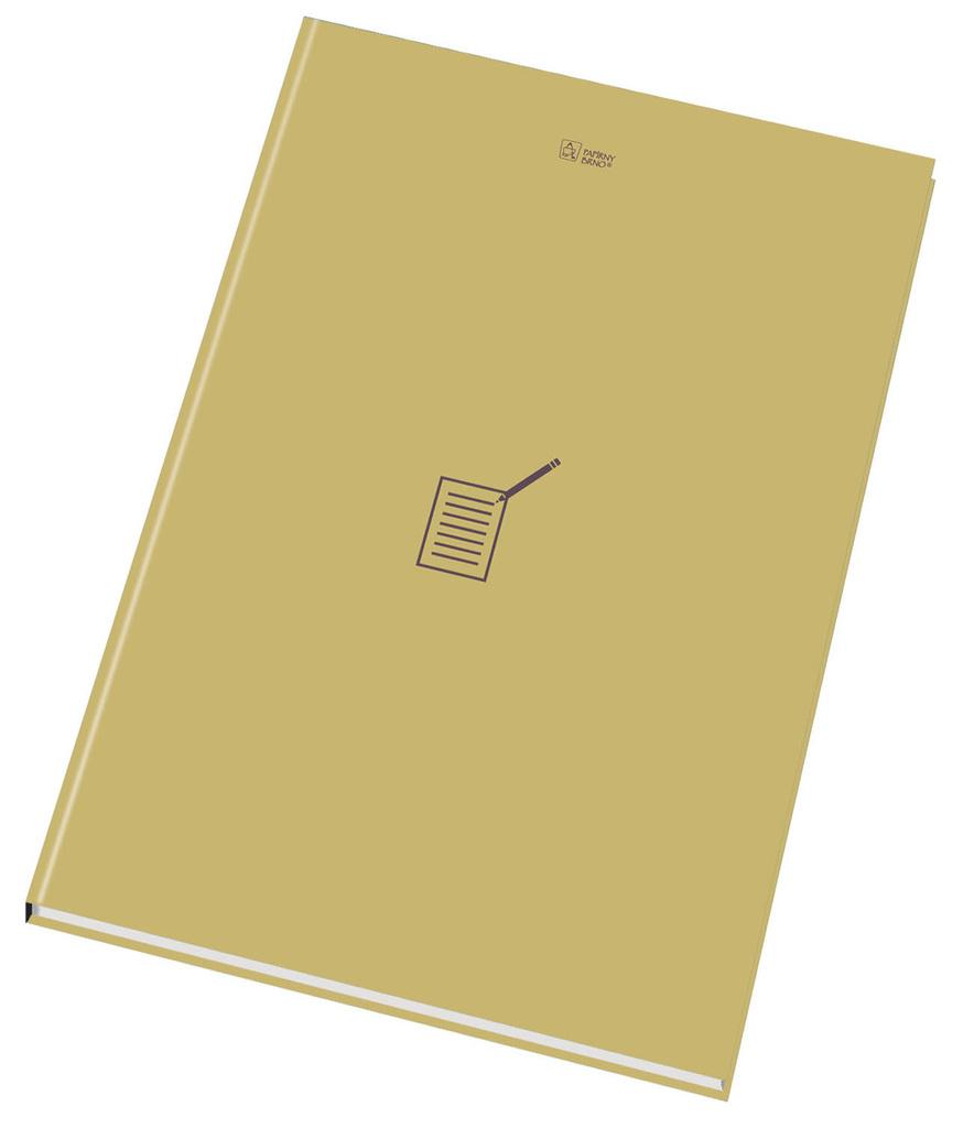 Kniha záznamní šitá Papírny Brno - A6 / linka / 96 listů