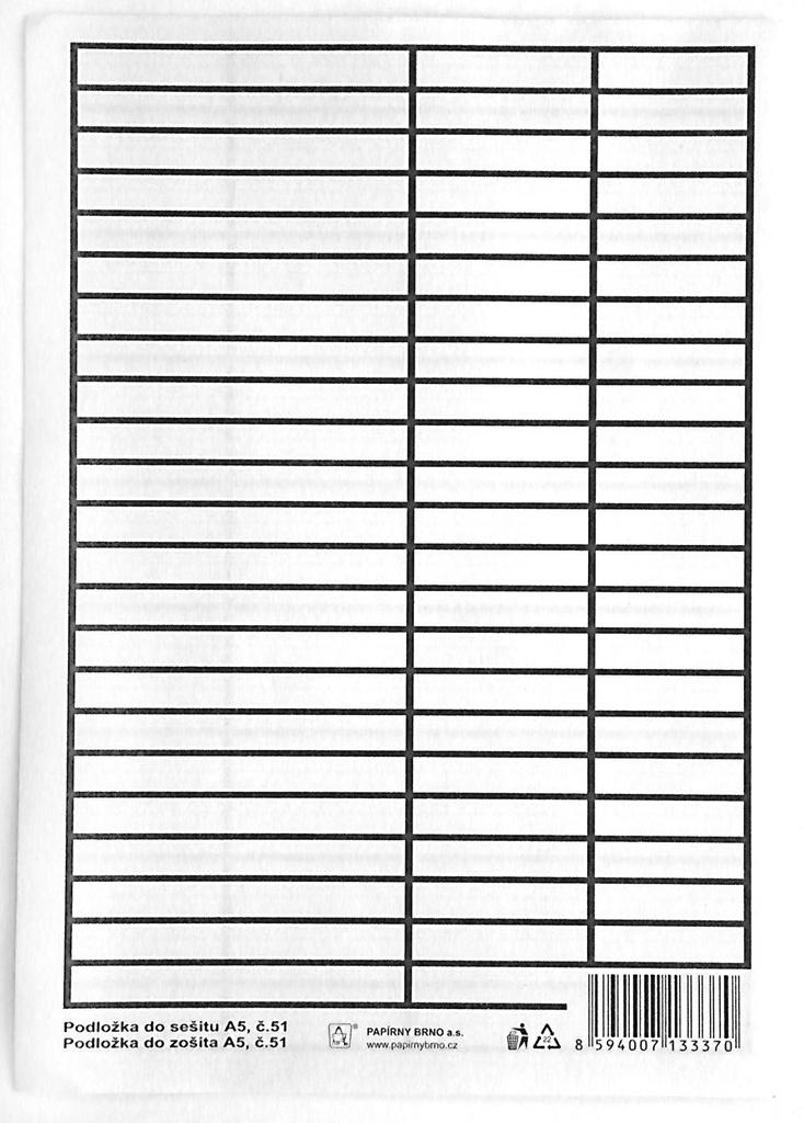 Podložka do sešitů A5 Auttep PVC - linka / linka