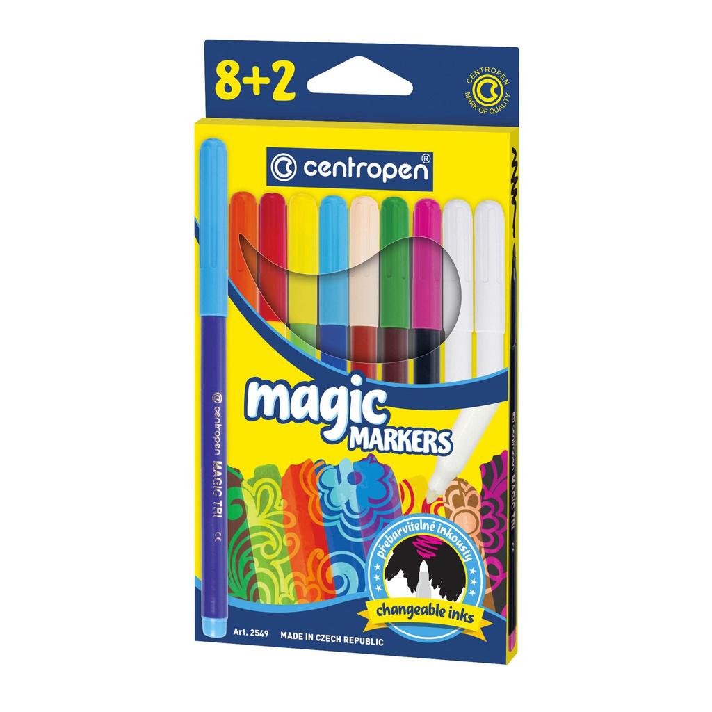 Značkovač Centropen 2549/8+2 Magic - 8 barev + 2 zmizíky