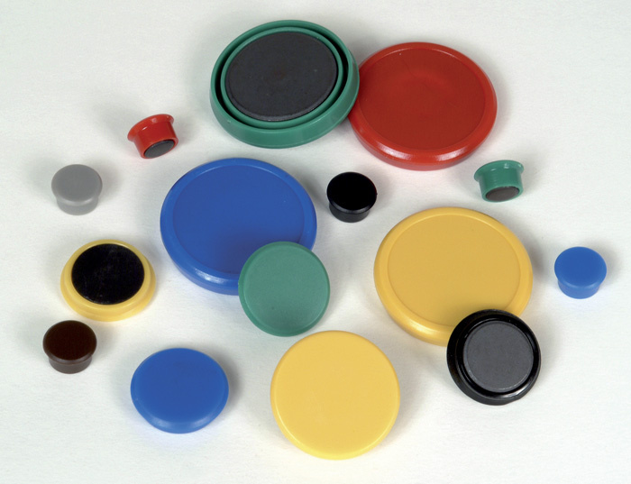 Magnety - průměr 24 mm/ červené/ 10 ks